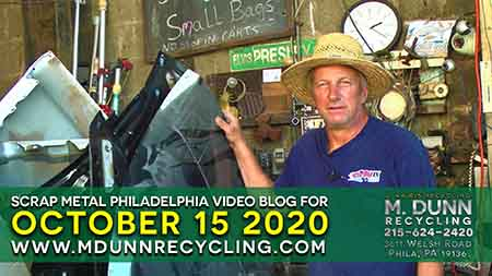 Scrap Metal Prices Video Blog Philadelphia October 15, 2020