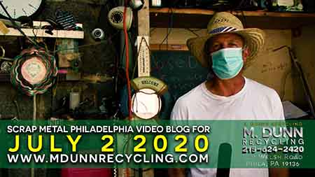 Philadelphia Scrap Metal Prices July 2, 2020 Delran NJ