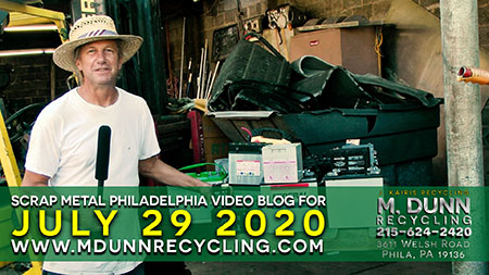Philadelphia Scrap Metal Prices 7-29-20 at M. Dunn Recycling. This week's blog we talk about recycling lead batteries and the different types we accept